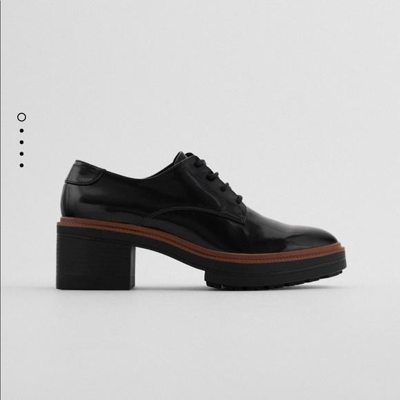 Zara Heeled Derby Shoes